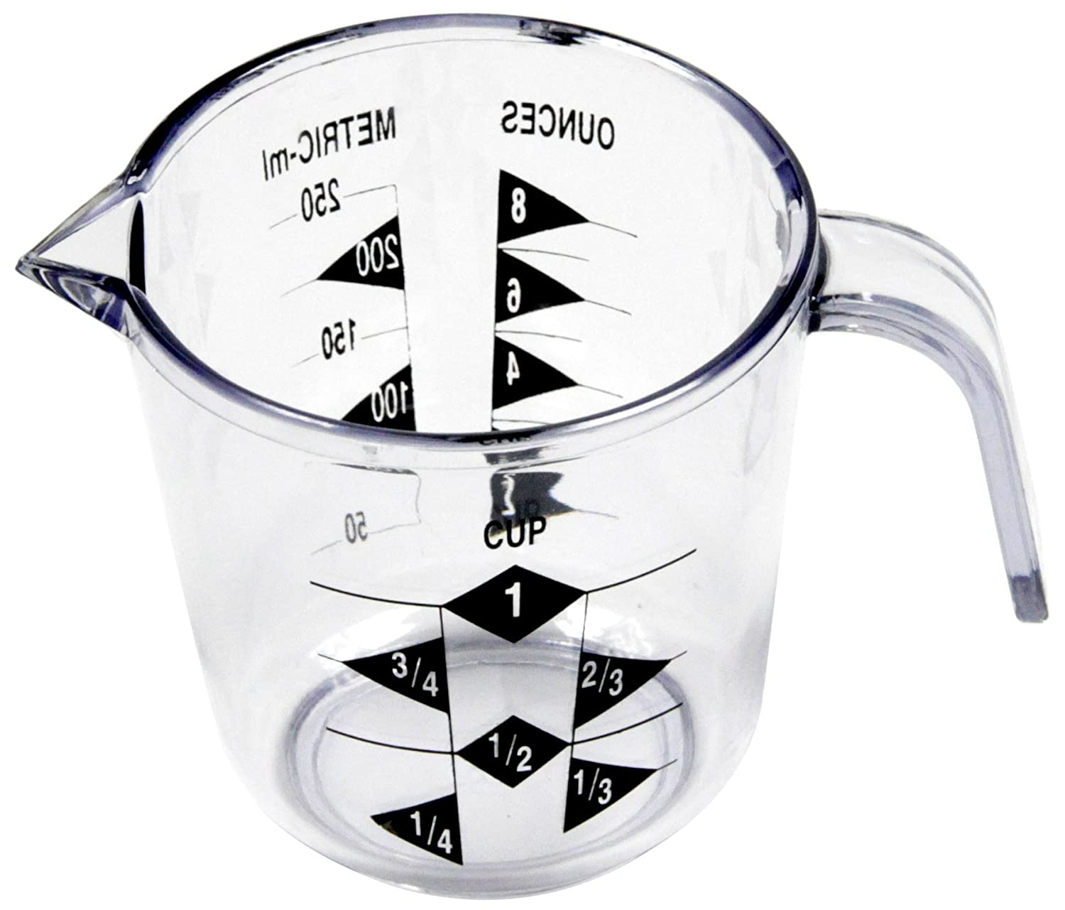 Chef Craft 1-Cup Measuring Cup, Clear 20789