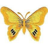Schmetterling Falter Magenta Aufn/äher B/ügelbild Patch Applikation