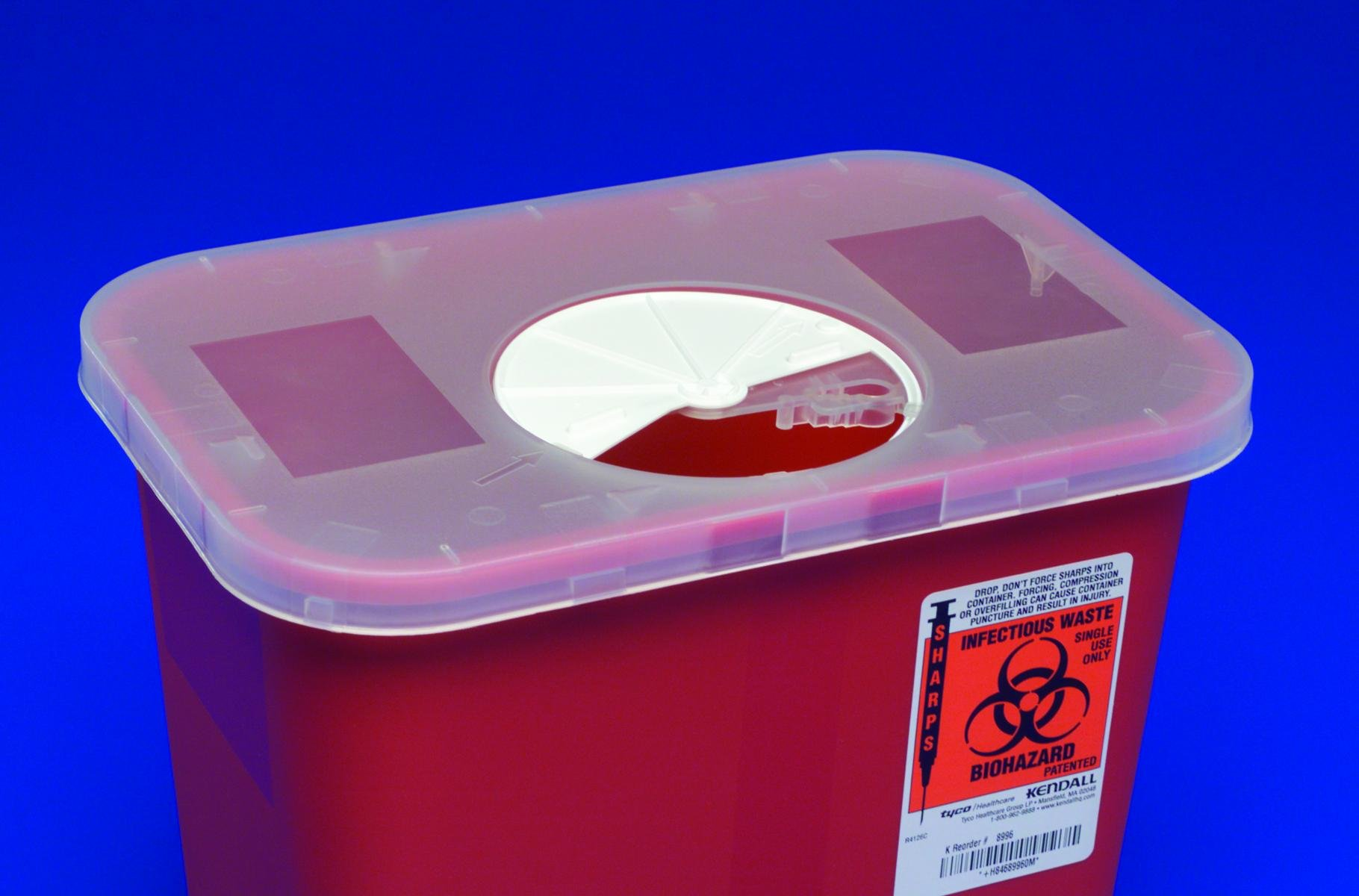Roter/hinged Lid Container 3gallon Red