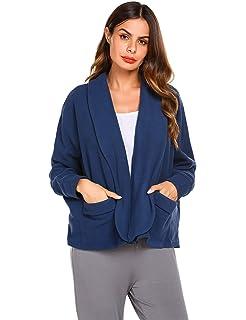 d8efe4b1631 Ekouaer Bed Jacket for Women Warm Winter Coat Sweater Cape Peter Pan-Collar  Robe Lounge