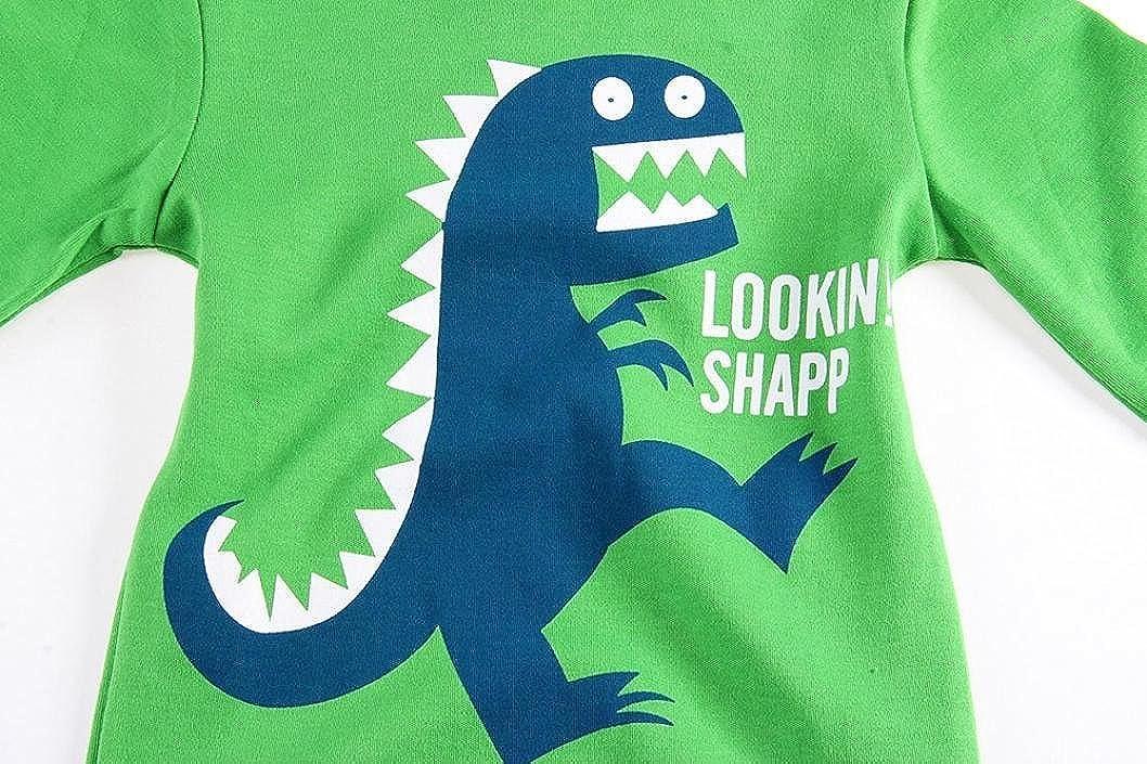 Veepola Kids T-Shirt Baby Girls Boys Cute Cartoon Dinosaur Printed Long Sleeve Tops T-Shirt.