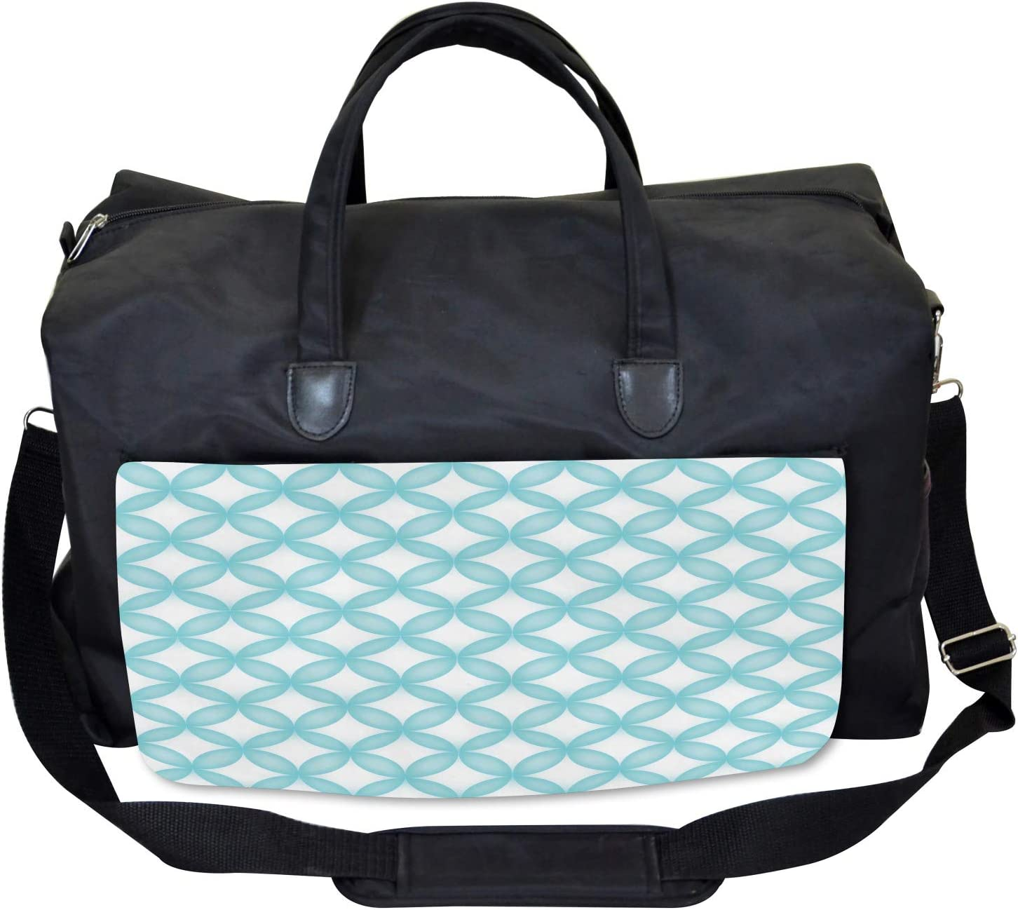 Large Weekender Carry-on Ambesonne Moroccan Gym Bag Geometic Circle Round
