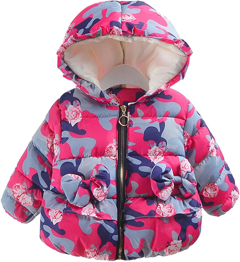 Baby Girl Winter Coat Cloak Jacket Thick Warm Outerwear Clothes Tops