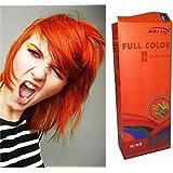 Teinture Coloration Cheveux Permanente Goth Emo Elfe Cosplay d'orange