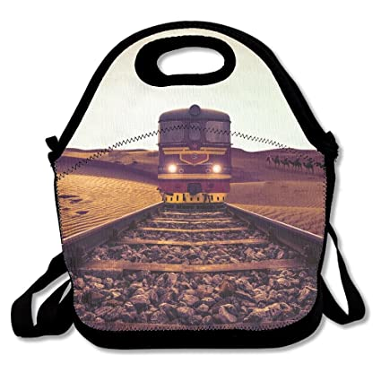 4bc17f0c59fc Amazon.com: Desert Railway Line Classic Lunch Bag Reusable Lunch ...