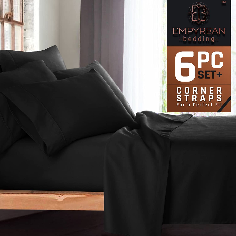 Premium 6-Piece Bed Sheet & Pillow Case Set