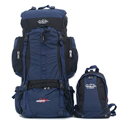 594d3a2ada Amazon.com  Bp Vision Mountaineer Backpack Hiking Backpack Extra Large 90l  Backpack with 10l Small Backpack