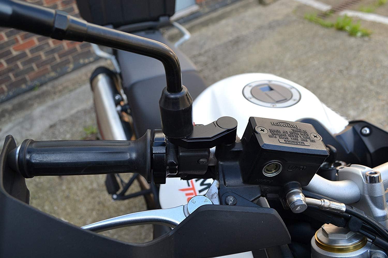 Motorrad Spiegel Heber Verlängerungen Cnc Bearbeitet Aluminium Schwarz Paar Auto