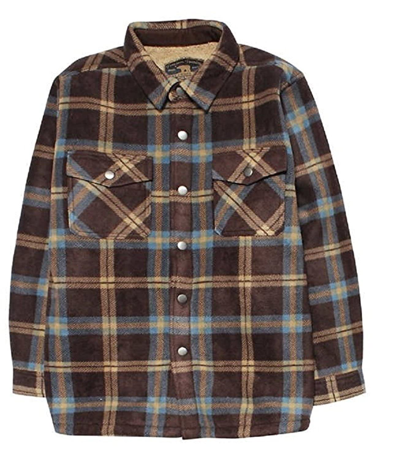 Freedom Foundry Boys Super Plush Sherpa-Lined Flannel Shirt Jacket