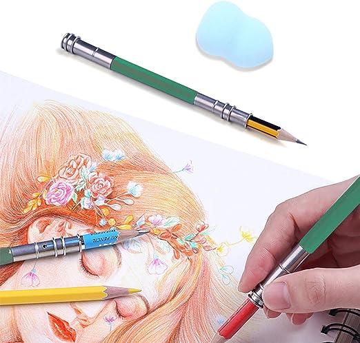 Lot de 8 Estompe en Papier Kit Estompes et Tortillions avec Gomme Mie de Pain e Taille-Crayon /à Papier de Verre pour Sketch Dessin Artistes Amateurs /étudiant D/ébutants