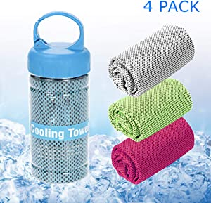 SUKYED Cooling Towels,Yoga Towel,Sport Towel,Quick Dry,Microfiber Towel,Chilly Towel Instant Cooling Relief,Super Absorbent for Yoga,Sport,Gym,Workout,Fitness,Running