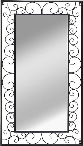 Mirror, Wall Mirror Rectangular 23.6 x43.3 Black
