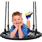 "Sorbus Spinner Swing - Kids Indoor/Outdoor Round Web Swing - Great for Tree, Swing Set, Backyard, Playground, Playroom - Accessories Included (24"" Net Seat)"