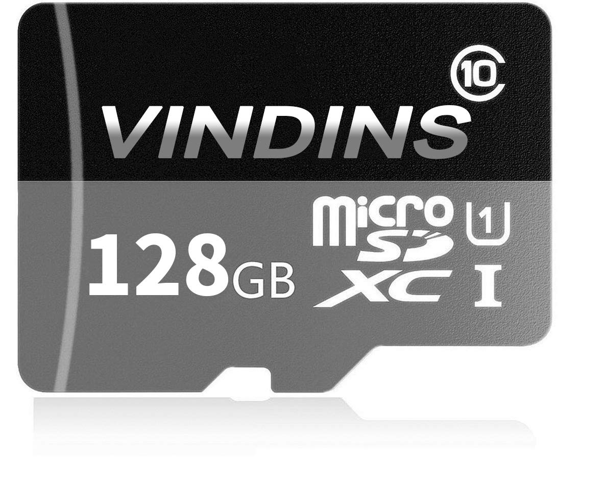 VINDINS 128GB Micro SD Card, SDXC Card High Speed Class 10 with Free SD Adapter