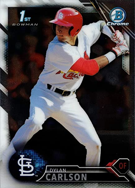 LOUIS CARDINALS! DYLAN CARLSON 2016 LEAF EXCLUSIVE ROOKIE CARD #R-DC ST