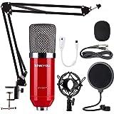 ZINGYOU Condenser Microphone Bundle, ZY-007 Professional Cardioid Studio Condenser Mic Include Adjustable Suspension…