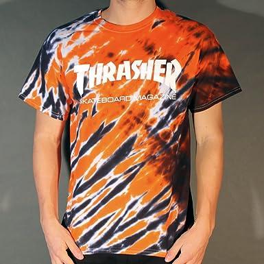 a9b5ef5b5346 Thrasher Skate Mag Tiger Stripe Tie Dye T-shirt  Amazon.co.uk  Clothing
