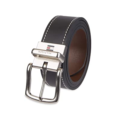 ff0faf64974e Tommy Hilfiger Reversible Leather Belt - Casual for Mens Jeans with ...