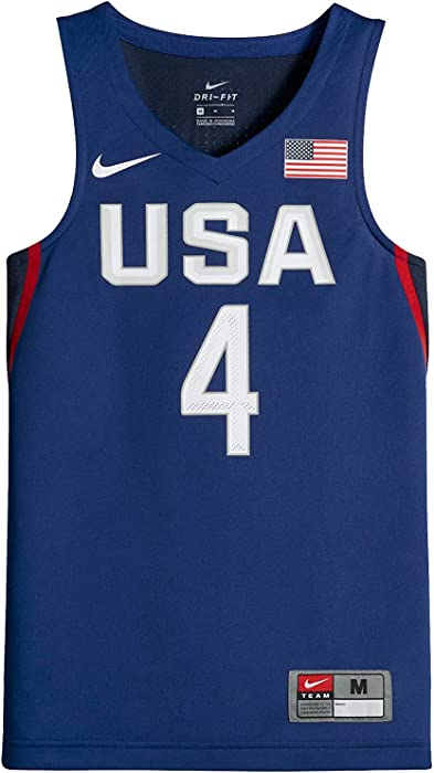 super popular 2a2f5 71dd9 USAB (USA Basketball) (Stephen Curry) Big Kids' Sleeveless Basketball Jersey