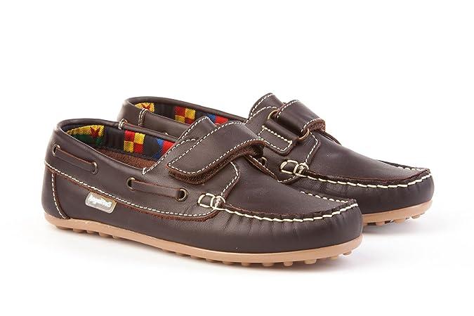 AngelitoS Nauticos para Niños Todo Piel mod.814. Calzado infantil (Marrón-Camel -Talla 20): Amazon.es: Zapatos y complementos