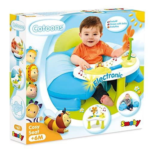 Smoby 110210 - Cotoons Baby Sitz mit Activity Tisch, blau: Amazon.de ...