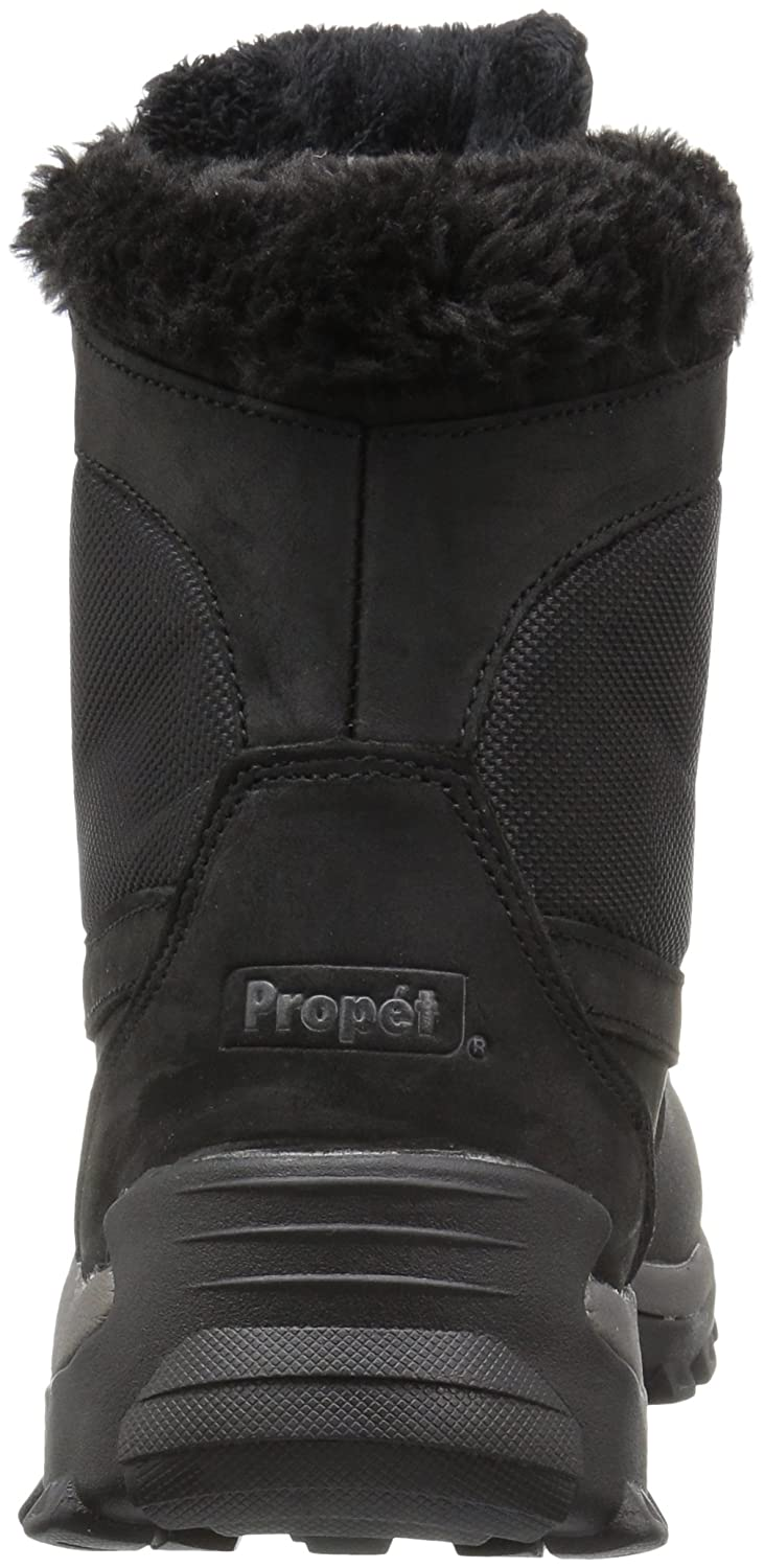 Propet Women's Blizzard Mid Lace Ii Winter Boot B01AYP2LYS 7 B(M) US|Black/Nylon