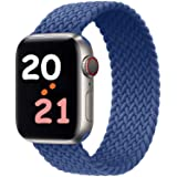 NUKELOLO Braided Solo Loop Strap Compatible with Apple Watch Bands 44mm 42mm 40mm 38mm, Soft Stretchable Sport Replacement Ba