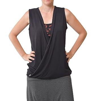 virblatt Camiseta Yoga Mujer sin Mangas como Ropa Yoga ...