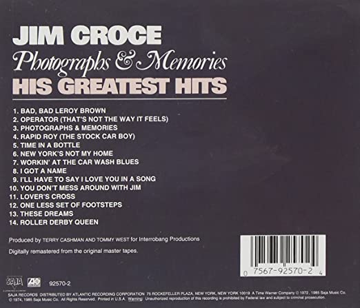 Jim Croce Photographs Memories His Greatest Hits Amazon Music