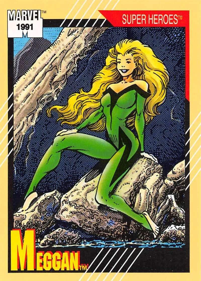 1991 Impel Marvel Universe Trading Card #37 Meggan COND Officila Marvel Character Card