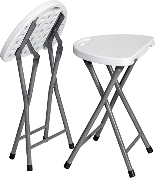 Zimmer Folding Stool (Set of 2) Portable Plastic Chair with Durable Steel Frame Legs  sc 1 st  Amazon.com & Amazon.com: Zimmer Folding Stool (Set of 2) Portable Plastic Chair ... islam-shia.org