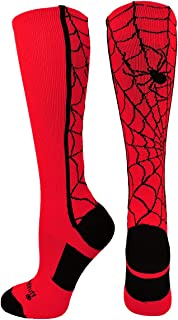 product image for MadSportsStuff Crazy Spider Web Over The Calf Athletic Socks