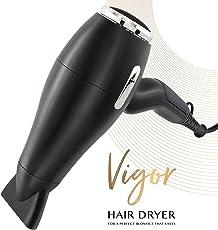 AsaVea Vigor Hair Dryer Pro AC Motor Ionic, Ceramic Fast 1875W Blow Dryer