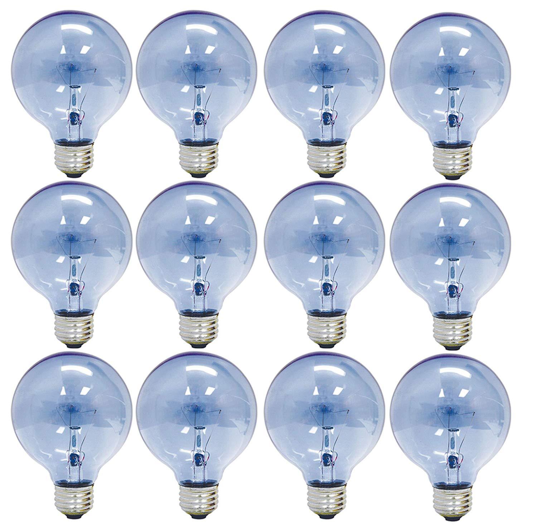 GE Lighting Reveal G25 Globe Light Bulb, 40W, 265 Lumens, E26 Medium Base, (12 Pack)