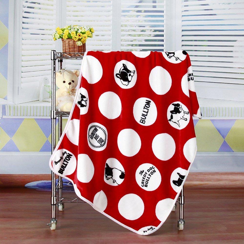 BinSanDa Prodotti per Animali Pet Dog Cat Puppy Kitten Coperta Morbida Doggy Warm Bed Mat Rosso