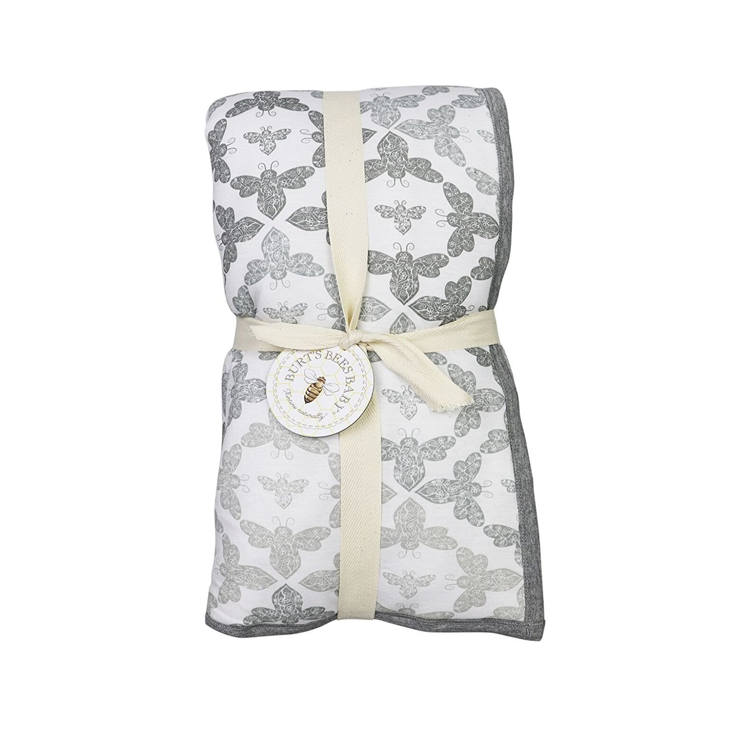 Burt's Bees Baby - Ombre Blossom Reversible Quilt, 100% Organic and 100% Polyester Fill (Heather Grey) Burt's Bees Baby HM10229-HTG-OS-H