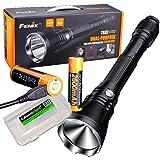 Fenix TK47UE Ultimate Edition 3200 Lumen 1339 feet beam LED Flashlight with 2 X Fenix USB rechargeable 18650 Li-ion batteries and EdisonBright BBX3 battery case