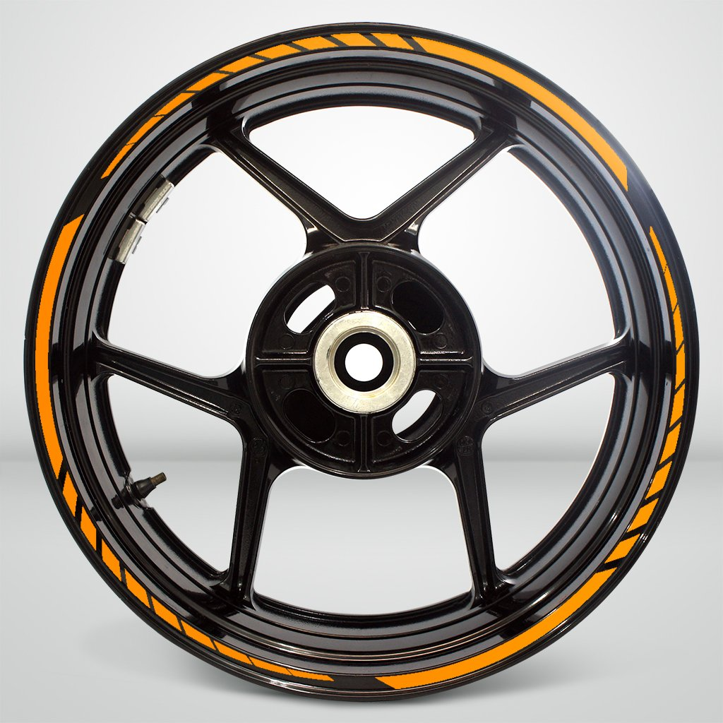Matte Gold Trail Outer Rim Liner Stripe Decalcomanie Adesivi for Kawasaki ER6N
