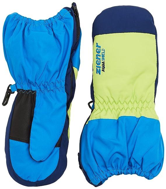 Ziener Kinder Skihandschuhe Fingerhandschuhe LEVIO AQUASHIELD® MINIS glove  blau