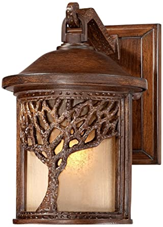 Bronze mission style tree 9 12 high outdoor wall light wall bronze mission style tree 9 12quot high outdoor wall light workwithnaturefo