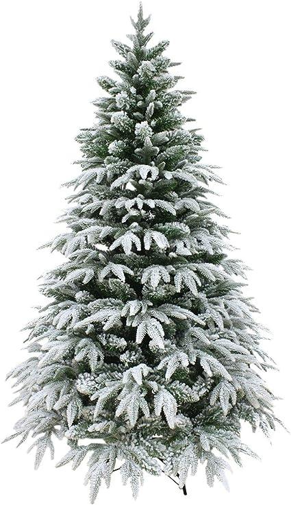 Alberi Di Natale Artificiali Di Lusso.Shatchi Albero Di Natale Artificiale 1 8 M 180 Cm Di Neve Elegante Natale Casa Decorazioni Amazon It Casa E Cucina