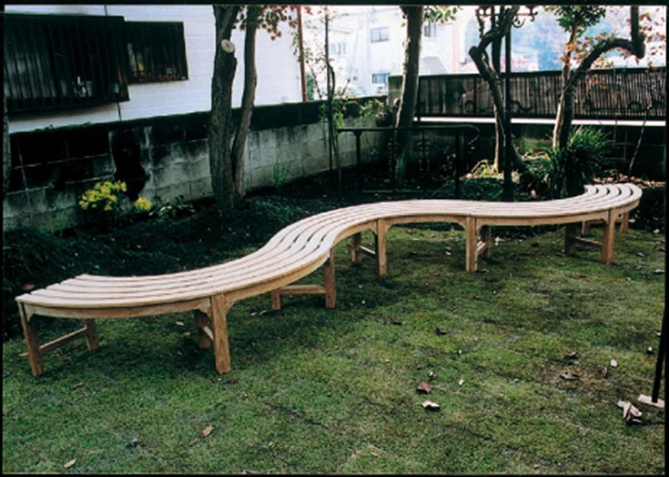ガーデンファニチャー:ラウンドベンチ2型【商品番号:36708】 B005HBJ9OK