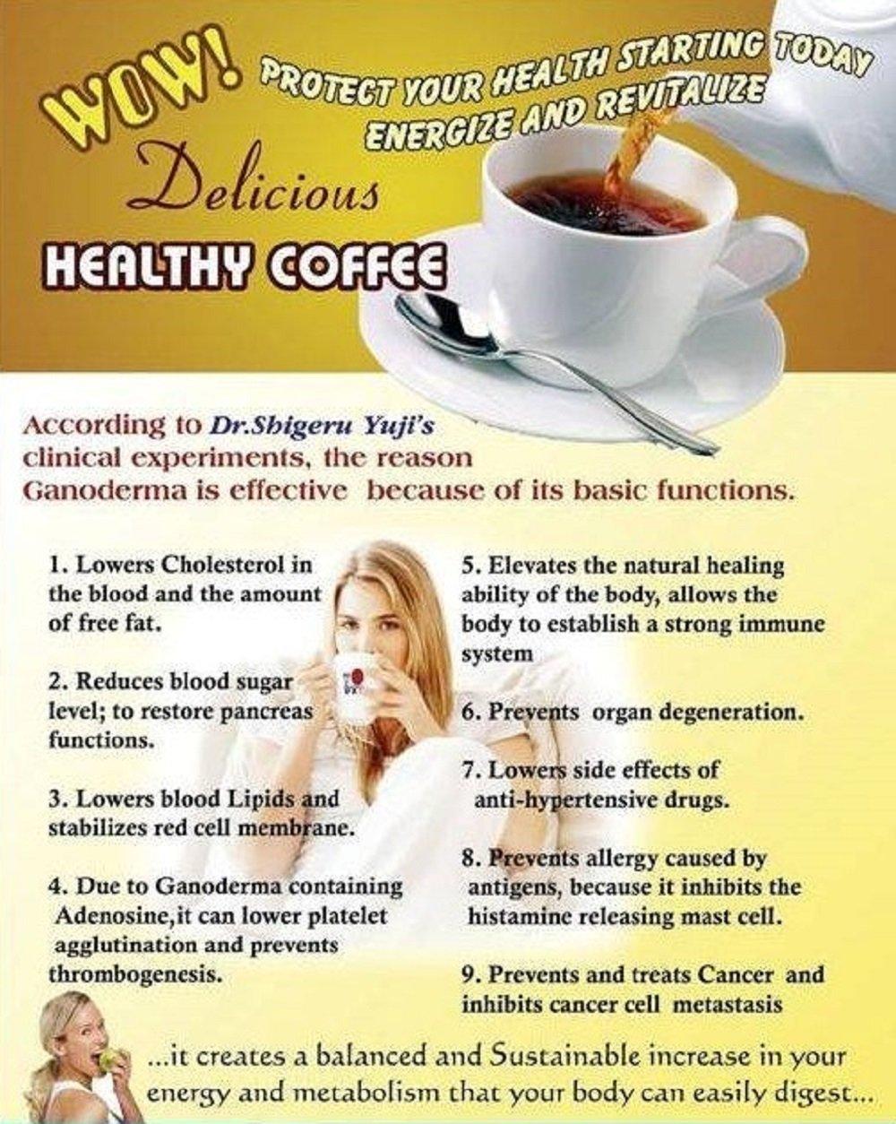 4 Packs DXN Lingzhi 3 in 1 Lite Ganoderma Coffee 20 Sachets 61cKWzpxuSL
