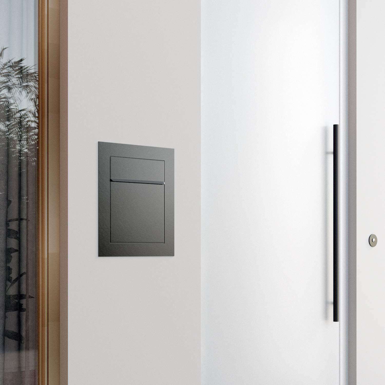 Design Einbaubriefkasten Bari Anthrazit Unterputz-Briefkasten Bravios