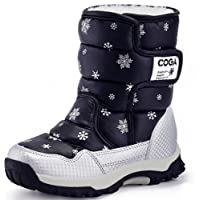 DADAWEN Boy's Girl's Outdoor Waterproof Cold Weather Snow Boots(Toddler/Little Kid/Big Kid)