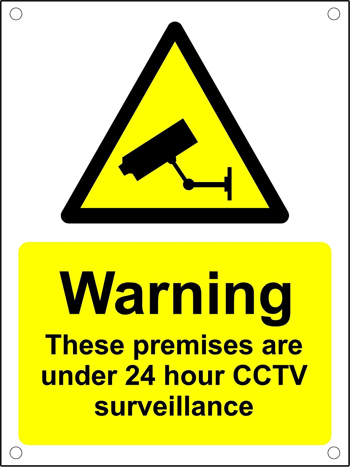 We Can See You Sign A5 Warning These Premises Are Protected By 24 Hour CCTV