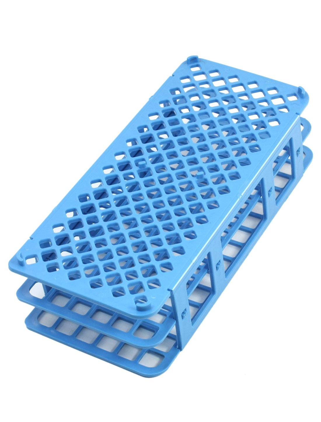 Lab Tool Blue Plastic 90 Position 12mm Hole Test Tube Stand Holder by uxcell (Image #2)