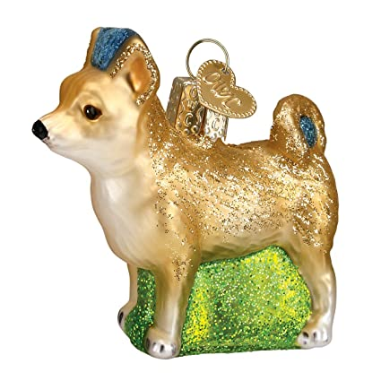 Old World Christmas Ornaments: Chihuahua Glass Blown Ornaments for Christmas  Tree - Amazon.com: Old World Christmas Ornaments: Chihuahua Glass Blown