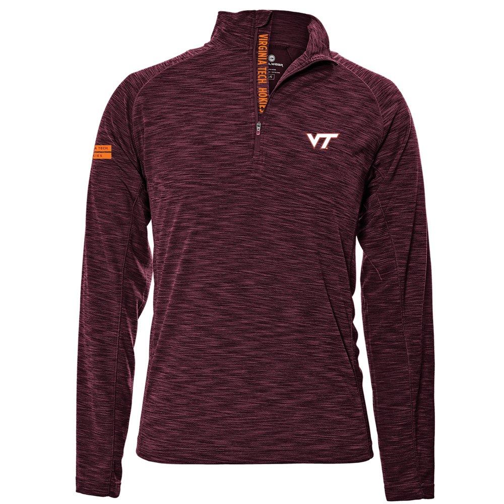 Levelwear LEY9R NCAA クオータージッププルオーバー ストロングスタイル ミッドレイヤー B074PG772C Medium|マルーン|Virginia Tech Hokies マルーン Medium