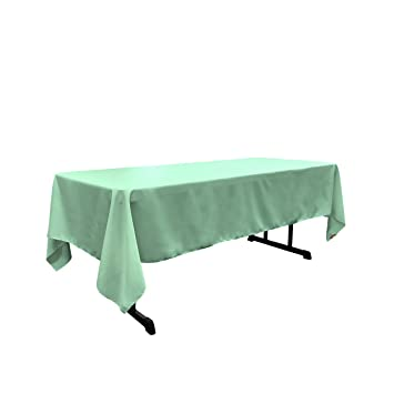 LA Linen 60 By 108 Inch Rectangular Polyester Poplin Tablecloth / Pack Of 1  /